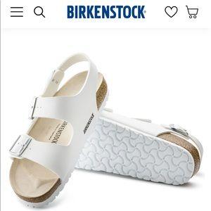 Birkenstock Milano White Leather Sandal NEW